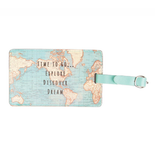 Sass & Belle - Vintage Map - Luggage Tag